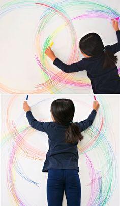Fun action art for kids! Rainy Day Activities, Art Activities For Kids, Preschool Learning Activities, Preschool Art, Sensory Activities, Science For Kids, Infant Activities, Kids Learning, Art For Kids