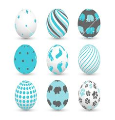 Easter eggs vector by lemony on VectorStock®
