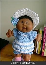 #Free Pattern; crochet; 15 inch doll dress ~~