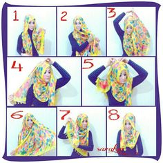 I have this style of scarf and had no idea how to wrap until now! sarahvi_ hijab tutorial