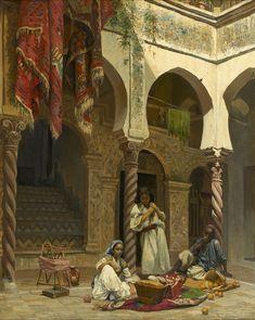 Interior of a Moorish House / Intérieur d'une maison mauresque // 19th century // Léon Girardet