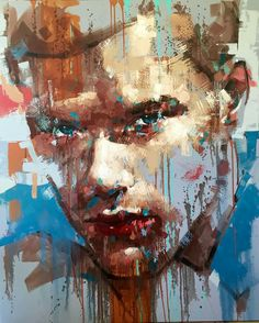 Jimmy Law is a self-taught artist and painter of expressive portraits and expressive nudes and resides in Cape Town, South Africa. Smoke Painting, Abstract Portrait Painting, Painting & Drawing, Jimmy Law, Art Sculpture, Pop Art, Face Art, Painting Inspiration, Amazing Art