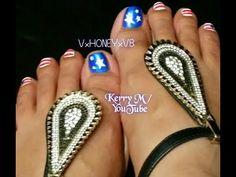 4th of July Toe Nail Art, fourth of July toenails, patriotic toenails, easy toe nail art, diy toenail designs, memorial day toe nails, veteran day toenails, USA nails, americana, fourth of July nails,  4th of July nails