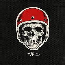 Znalezione obrazy dla zapytania skull motorcycle tattoo