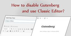 There a huge change in WordPress world. WordPress has introduced Gutenberg on 06 Dec WordPress Gutenberg has replaced the old editor that was Make Money Writing, Start Writing, Make Money Blogging, Learn Wordpress, Free Blog, Business Website, Disability, Editor, How To Start A Blog