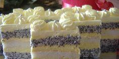 Kremaste mak kocke ~ Recepti i Ideje Serbian Recipes, Czech Recipes, Hungarian Recipes, Torte Recepti, Kolaci I Torte, Sweet Desserts, Sweet Recipes, Fun Deserts, Amazing Deserts