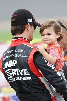 Jeff Gordon & his son Leo at Daytona qualifying