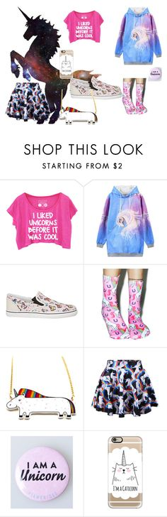"""unicorns !!!"" by foreverawesome123 on Polyvore featuring WithChic, Sophia Webster, Living Royal, Chicnova Fashion, Casetify, women's clothing, women, female, woman and misses"