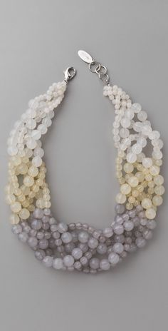 Adia Kibur Beaded Twist Necklace | 15% off first app purchase with code: 15FORYOU