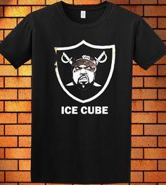 2b75c1c3 Ice Cube Oakland Raiders Logo T-Shirt New Tee Shirt Black New 6 #Handmade