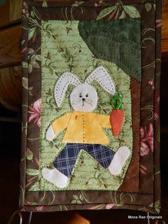 Easter Bunny Wall Hanging with Stand  Original by MROriginals, $45.00