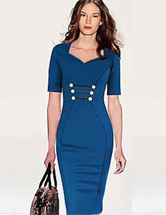 Monta Women's Half Sleeve V-Neck Bodycon Slim Dresses. Get unbeatable discounts up to 80% Off at Light in the box using Coupons.