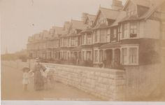 Greenhill Terrace, Weymouth, Real photo, old postcard, unposted