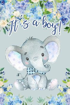 Digital Printable - Beautiful ITS A BOY Baby Shower SIGN, Boy Elephant Baby Shower Sign, Two Choices - foot - Digital Backdrop. Peanut Baby Shower, Baby Shower Niño, Baby Shower Signs, Boy Baby Shower Themes, Baby Shower Parties, Printable Baby Shower Invitations, Baby Shower Printables, Dibujos Baby Shower, Deco Buffet