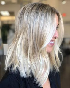 Lace Front Human Hair Wigs Remy Peruvian Straight Bob Wig For Black Women Color Hair - hair lengths Medium Hair Styles, Curly Hair Styles, Buttery Blonde, Creamy Blonde, Long Bob Haircuts, Blonde Long Bob Hairstyles, Wavy Lob Haircut, Fade Haircut, Cool Haircuts