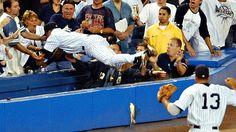 Derek Jeter Dives Into The Stands