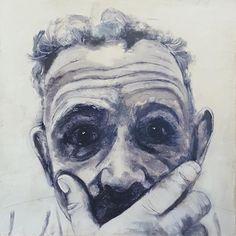 Battling Demons (Speak no Evil) by lyn Kirkland, Encaustic wax and pigment sticks Painting People, Figure Painting, Mixed Media Artists, Demons, Lovers Art, Wax, Texture, Sticks, Creative