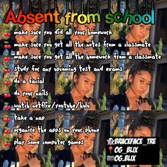 What to do when absent from school