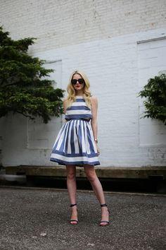 Atlantic-Pacific: summer ready: Dress: Pim and Larkin. Shoes: Tibi. Sunglasses: Karen Walker 'Super Duper'. Lips: Stila 'Beso'. Jewelry: Cartier, David Yurman, Hermes.
