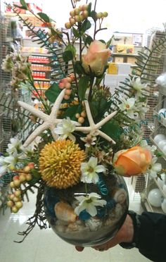 Beachy Accents Floral Arrangement designed by Leisa, A.C. Moore Clarksburg, WV