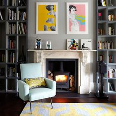Woodburner and Fireplace