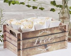 Wooden Effect Card Crate, Wedding Favours, Wedding Cards Box, Wedding Flip Flops Box, Rustic Wedding Decor, Party Box, Wedding Favors #weddingdecoration