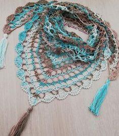 Best 12 Ravelry: Summer Breeze / Brise d'été pattern by EclatDuSoleil – SkillOfKing. Diy Crochet And Knitting, Crochet Scarves, Crochet Shawl, Crochet Clothes, Ravelry, Crochet Triangle Scarf, Crochet Accessories, Crochet Flowers, Crochet Projects