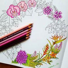 Art by @augenblick_78 bom dia segunda feira amo esses coloridos com tons de rosa ❤❤ #colorindomeujardimencantado #LoveIn30Languages #mycreativeescape #mandala #johannabasford #secretgarden #FlorestaEncantada #enchantedforest #adultcoloringbook #jardimdosbroder #fabercastell #maped #staedtler #mapedcolorpeps #fabercastellbrasil #polychromos #livrocoloriramo #parkyoungmi #hannakarlzonsommarnatt #oceanoperdido #c...