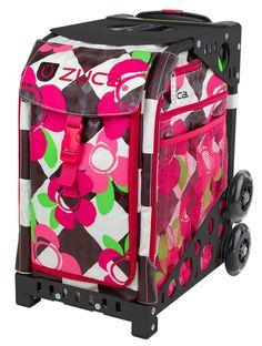 ZUCA Bag Ollie Insert /& Red Frame w//Flashing Wheels
