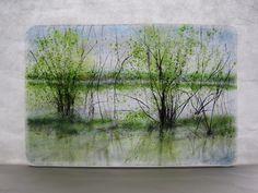 Angelita Surmon, Oak Island Reflections, 2012, Kiln Formed Glass
