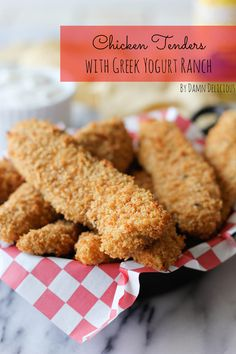 Chicken Tenders with Greek Yogurt Ranch
