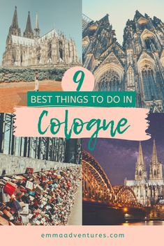 The best things to do in Cologne Germany - Emma Adventures Backpacking Europe, Europe Travel Guide, Europe Destinations, Travel Guides, Europe Places, Amazing Destinations, Budget Travel, Cities In Germany, Visit Germany