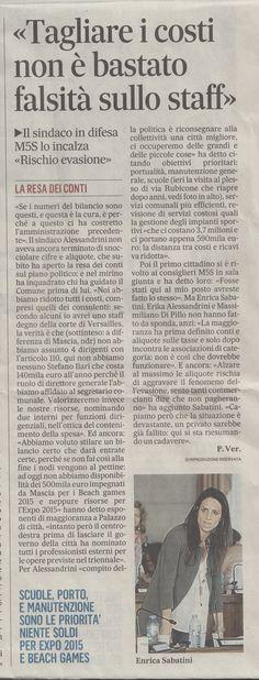 #28agosto2014 #tagli staff #rischio evasione #finanze #enrica sabatini #beppe grillo #movimento 5 stelle