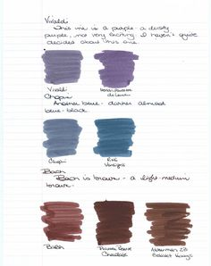 Pens Paper Inks...Whatever!: Diamine Music Inks