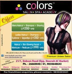 ABP Howrah Ad for Colors Loreal Salon
