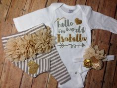 newborn baby clothes Baby Girl coming home outfit by SweetnSparkly