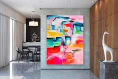 Large Abstract Painting,Modern abstract painting,bright painting art,livingroom decor art,xl abstract painting FY0045 Large Wall Art, Large Art, Contemporary Shelving, Office Paint, Bright Paintings, Artwork Display, Bathroom Wall Art, Abstract Wall Art, Texture Art
