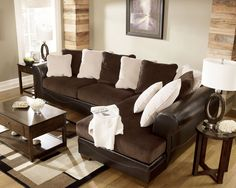 Sophisticated #design yet super comfy from Ashley Furniture HomeStore. Also great for a big #family.