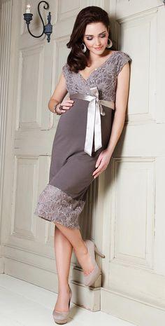 Twilight Lace Maternity Dress (Mocha) by Tiffany Rose love this maternity dress!