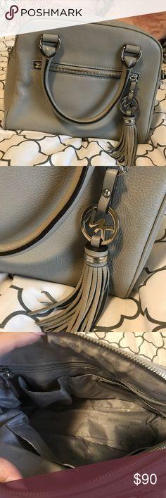 Michael Kors Crossbody Bag Grey MK Crossbody Bag. Perfect condition. Comes with adjustable strap! Michael Kors Bags Crossbody Bags