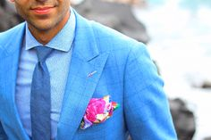 Jason Sarai Bespoke Suit | Huddersfield Cloth | Textured shirt & pocket square