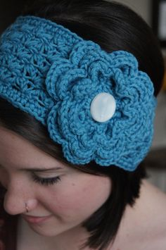 Artículos similares a Crocheted Ear Warmer/Headband en Etsy