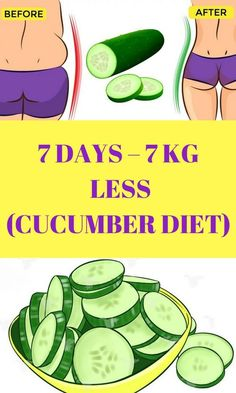 7 DAYS – 7 KG LESS (CUCUMBER DIET) | Healthy Mom