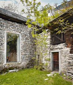 This Rustic Farmhouse Is Not What It Seems - Buchner Bründler Architekten Cottage Renovation Old Stone Houses, Old Farm Houses, Architecture Renovation, Architecture Details, Chef D Oeuvre, Brick And Stone, Stone Walls, Rustic Farmhouse, House Design