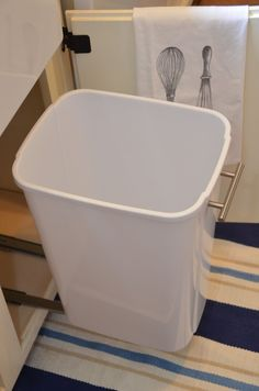 {IRON + TWINE}: Under Sink Storage, DIY slide out trash can