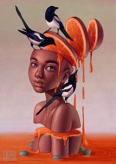 "joifish: ""Strange Dreams"" Print available on. Illustrations, Art And Illustration, Grunge Art, Weird Dreams, Portraits, Pop Surrealism, Surreal Art, Cute Art, Art Girl"