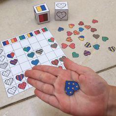 Les dés de l'amour : nouveau jeu à imprimer gratuitement