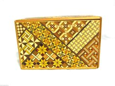 Vintage Japanese Wood Puzzle Box