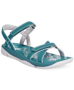 0e2bb841f515b Clarks Collection Women s Tresca Trace Flat Sandals Blue Sandals