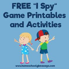 "FREE ""I Spy Game"" Printables, Ideas, and Activities"